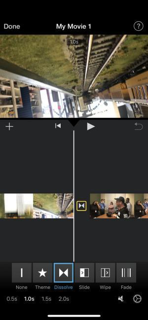On the My Movie screen, you can preview videos, transition between video clips