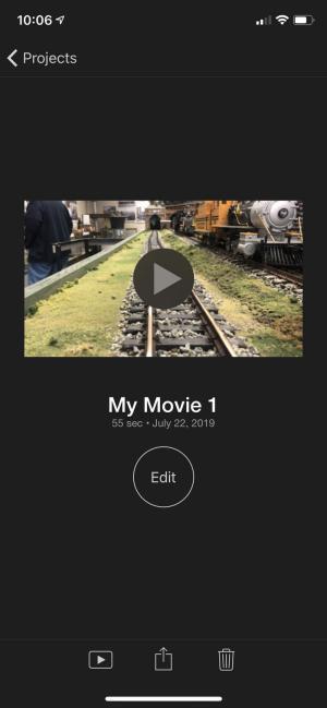Toque no botão Compartilhar para compartilhar o clipe associado