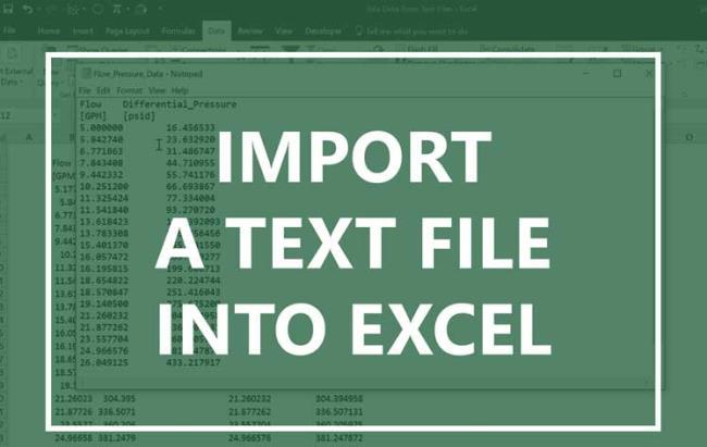Entrez le fichier texte dans Excel