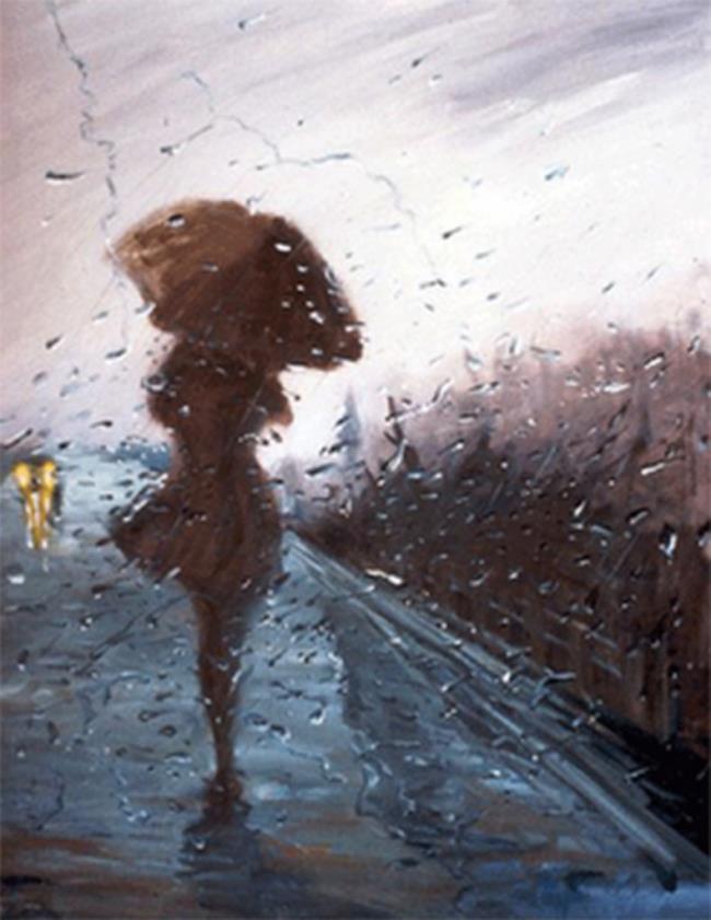 बारिश में उदास प्यार की सुंदर छवियों का संग्रह