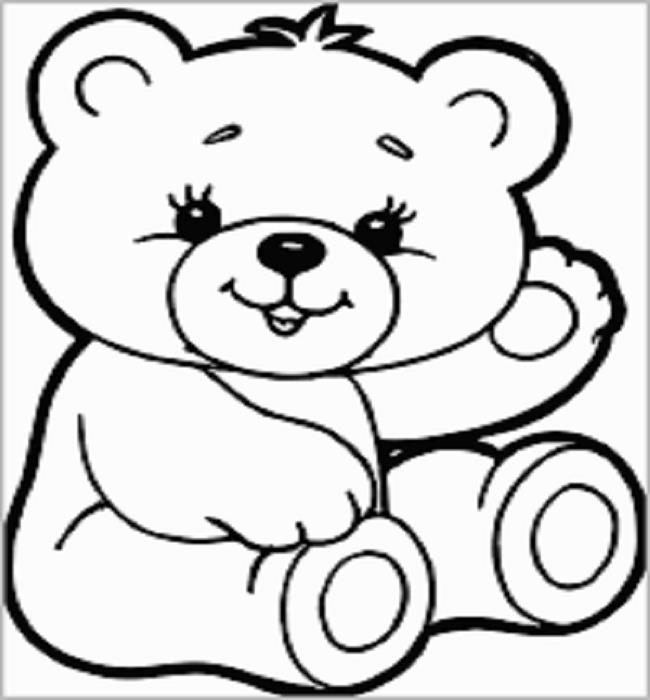 Koleksi gambar pewarna terbaik untuk beruang bayi
