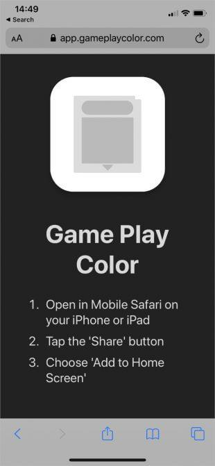 Game Play Color screen