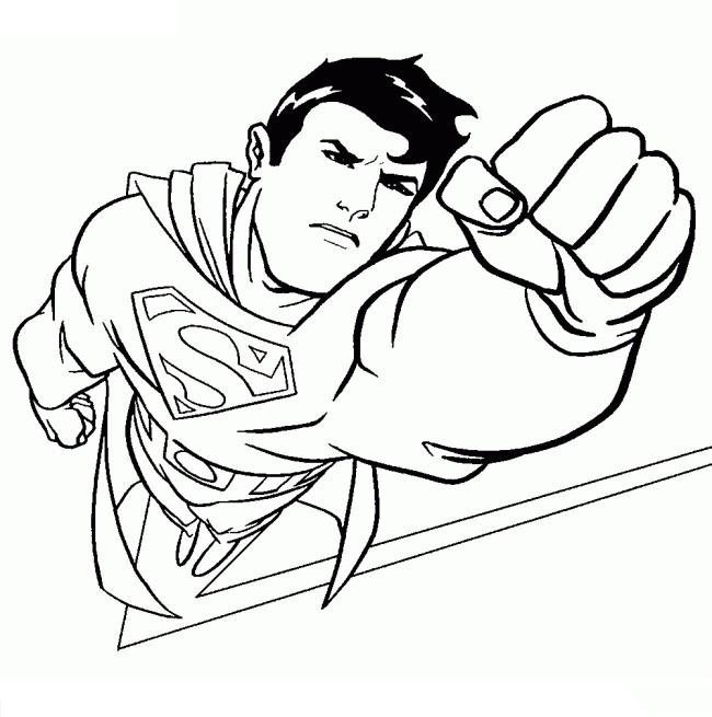 Collection of beautiful superhero coloring pictures