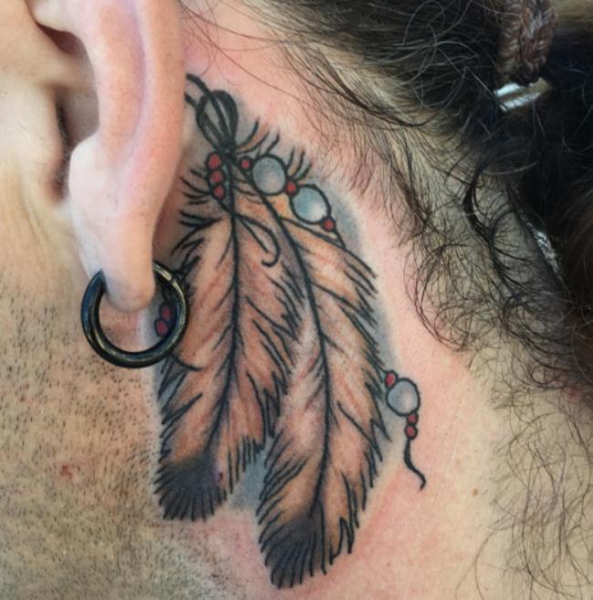 Коллекция красивых шаблонов татуировки перьев для вас