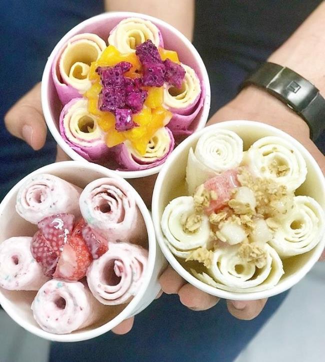 सारांश छवि आकर्षक आइसक्रीम तुरंत खाने के लिए देखो