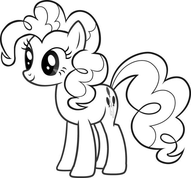Koleksi Gambar Mewarnai Pony Paling Indah Untuk Bayi Anda