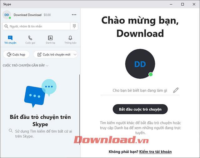 Interface Skype vietnamienne