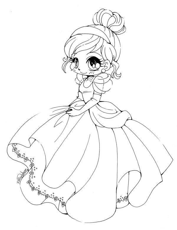 مجموعه عکس های رنگ آمیزی پرنسس زیبا Chibi