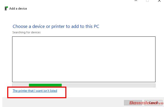 Pencetak yang saya mahukan tidak disenaraikan.