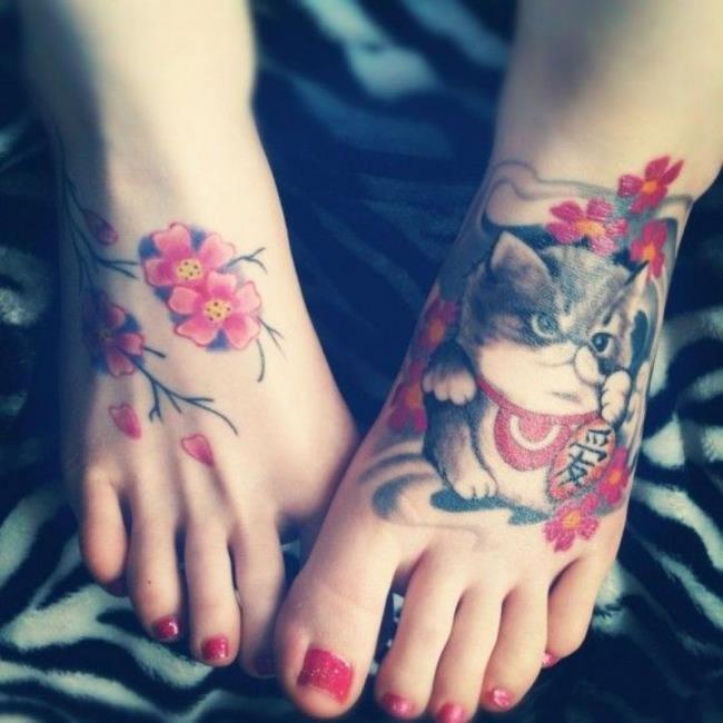 Коллекция из 50 образцов исключительно красивых, качественных татуировок сакуры
