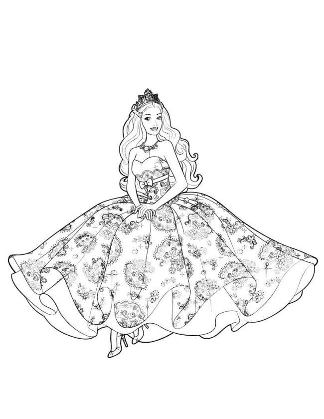 Sammlung der schönsten Malvorlagen der Barbie-Prinzessin