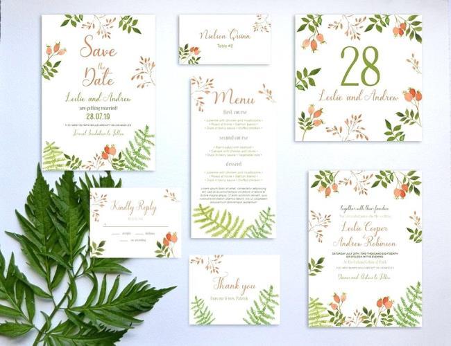 Zusammenfassung einiger der schönsten Einladungsvorlagen