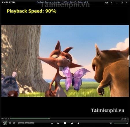 KMPlayer - How to change the playback speed Video