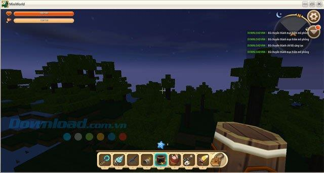 How to switch from Survival to Creative mode in Mini World: Block Art