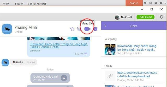 How to share a computer screen on Viber