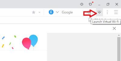 Screenshot: Launch virtual wifi icon
