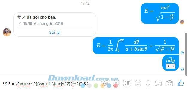 How to write a Math formula on Facebook Messenger