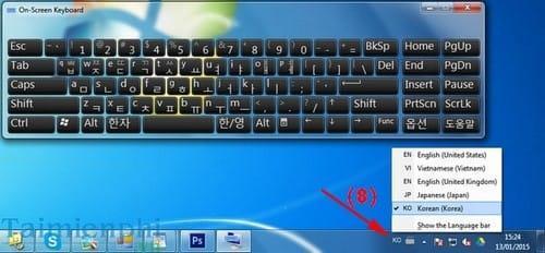 Install a virtual keyboard on Windows 7/8 Korean