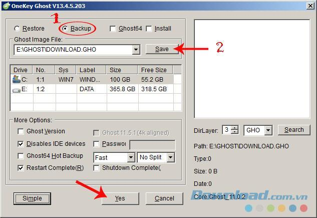How to ghost Win 7, 8, 10 with Onekey Ghost