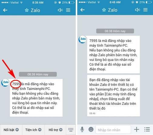Use Zalo on PC, login using the activation code Zalo