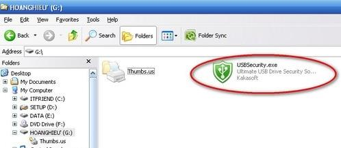 how to set a password for the usb drive