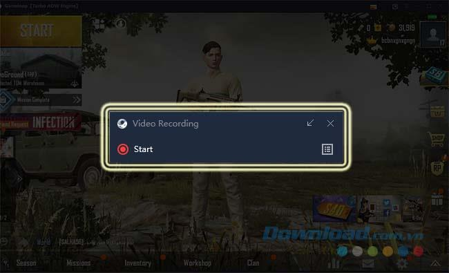How to rotate the screen playing PUBG Mobile on GameLoop