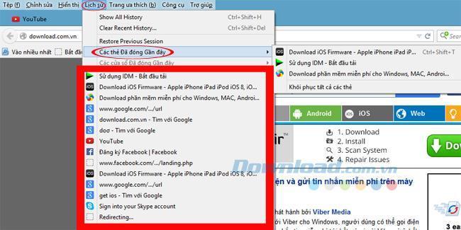 Chrome、Firefox、Safari、Operaで最近閉じたタブを再度開く手順