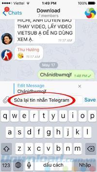 テレグラムで送信されたメッセージを編集する方法