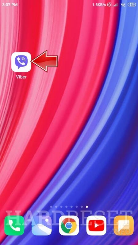 downloaded Viber app