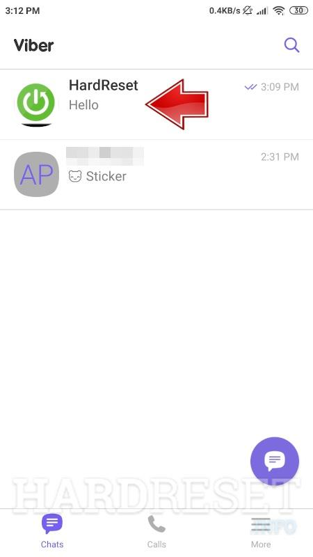 go to the conversation on Viber