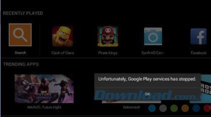 残念ながら修正します。GooglePlayサービスはBlueStacksで停止しました
