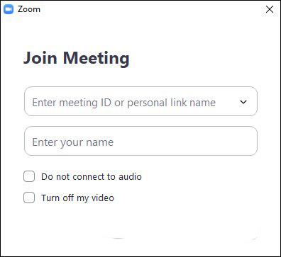 Zoom software on the computer