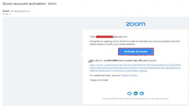 Перейдите на свой зарегистрированный адрес электронной почты, чтобы активировать учетную запись