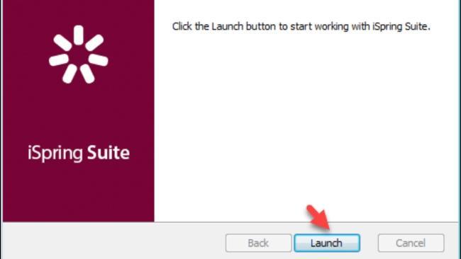 مرحله 3: برای نصب برنامه Launch را انتخاب کنید