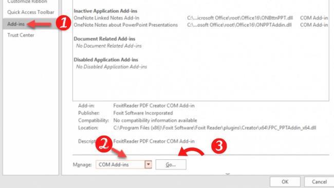 مراحل رفع خطای پنهان شدن ابزار iSpring Suite در پاورپوینت
