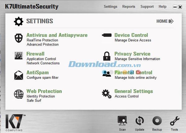 K7 Ultimate Security 13.1.0.205 - برنامج أمان الكمبيوتر