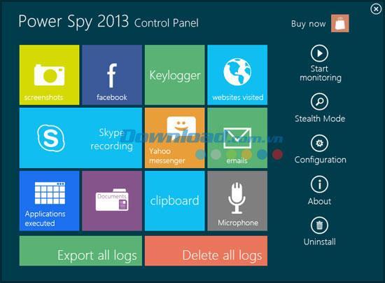 Power Spy 13.0 - مراقبة نشاط جهاز الكمبيوتر الخاص بك