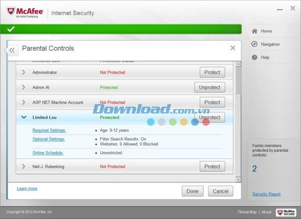 McAfee Internet Security - أداة لحماية الكمبيوتر الشاملة