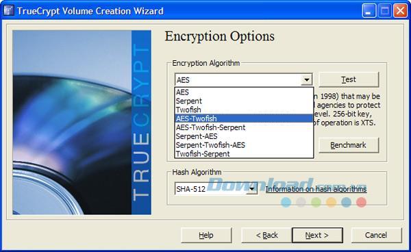 TrueCrypt 7.1a - تشفير مجاني للملفات