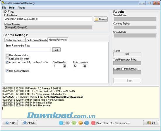 Notes Password Recovery 4.0.3.34 - استعادة كلمة مرور Lotus Notes