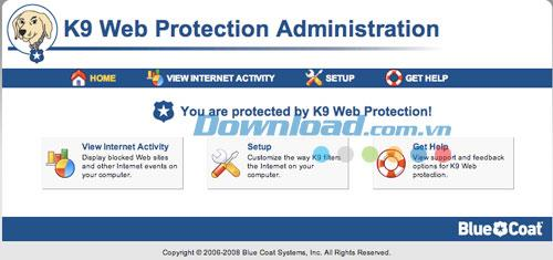 K9 Web Protection - برنامج لتصفية الإنترنت والتحكم فيه