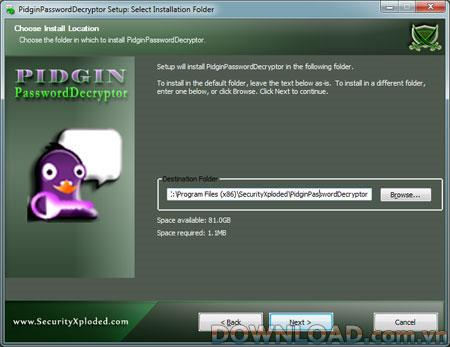 PidginPasswordDecryptor 1.5 - يستعيد كلمات المرور المخزنة بواسطة Pidgin Messenger