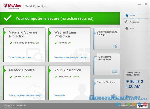 McAfee Total Protection - برنامج أمان الكمبيوتر بشكل فعال