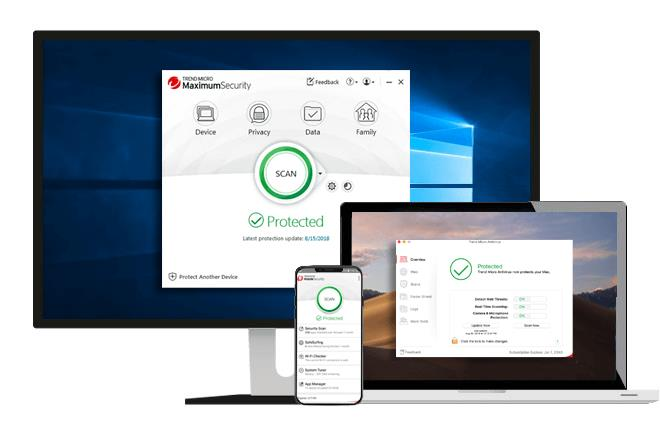 Trend Micro Maximum Security 2019 15.0.0.1163 - الوصول الآمن إلى الإنترنت وتصفح الويب والمعاملات عبر الإنترنت