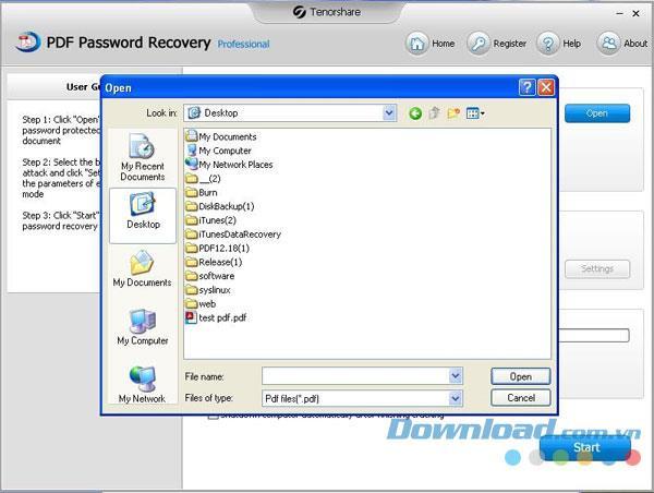 Tenorshare PDF Password Recovery 1.0.0.1 - إزالة الحماية بكلمة مرور لملفات PDF