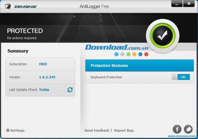 Zemana AntiLogger Free 1.6.2.245 - برنامج مجاني لحظر كلوغر