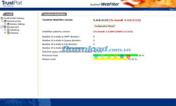 TrustPort WebFilter 5.5.0.2234 - التحكم في الوصول إلى الويب