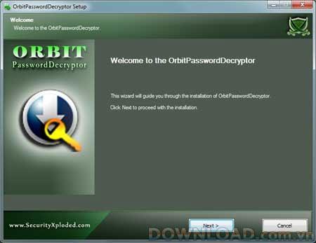 OrbitPasswordDecryptor 2.0 - استعادة كلمة مرور الحساب المتميز