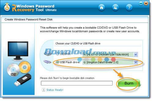 Tenorshare Windows Password Recovery Tool Ultimate 3.2 - أداة استعادة كلمة المرور لنظام Windows