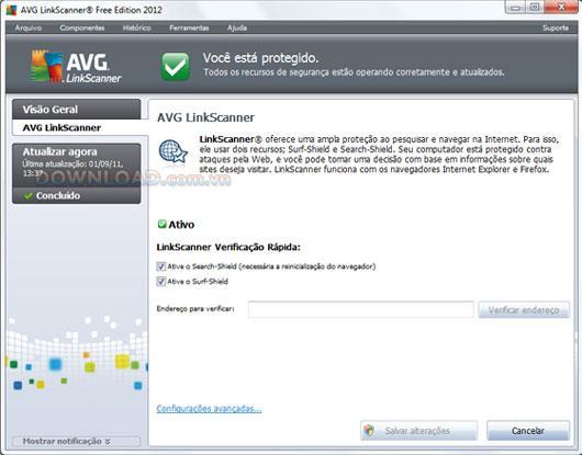 AVG LinkScanner Free Edition 2013.0.2897 - يكتشف المواقع الخبيثة
